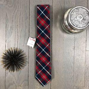 NWT Nautica Flannel Red Blue Green White Plaid Tie